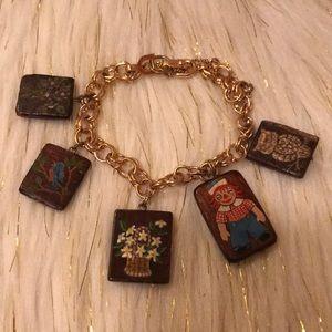 Jewelry - True vintage handpainted raggedy ann bracelet